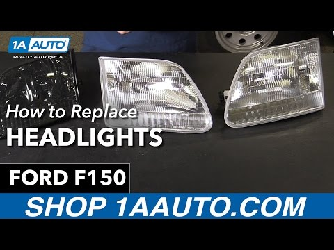 How to Replace Install Headlights 1998-00 Ford F150