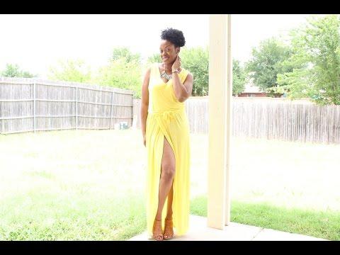 DIY Maxi Dress with High Split Tutorial