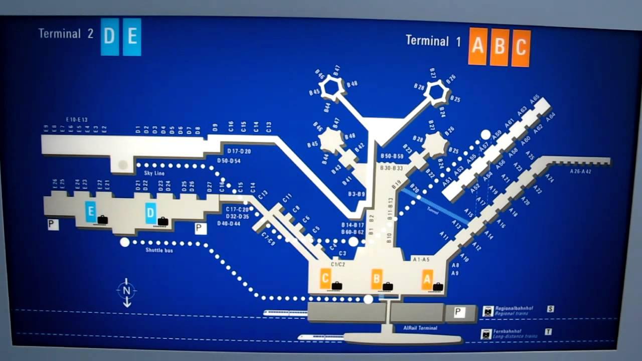 Схема транзита во франкфурте