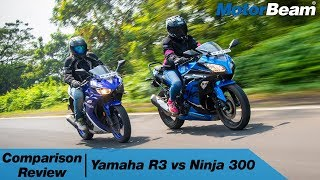 Yamaha R3 vs Kawasaki Ninja 300 - Twin-Cylinder Comparison | MotorBeam