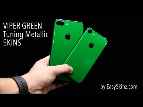EasySkinz VIPER GREEN TUNING Skins Wraps Decals for iPhone 7 and iPhone 7 PLUS