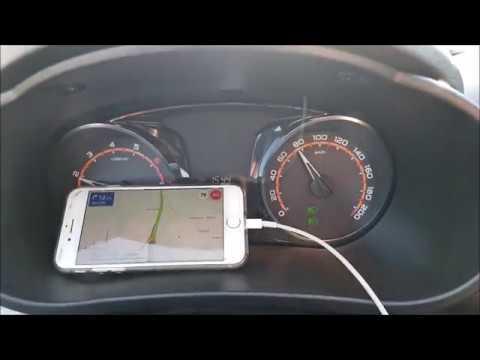 Lada Granta и показания спидометра в сравнении с GPS