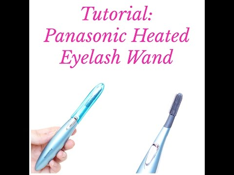 Tutorial + Review: Panasonic Heated Eyelash Curling Wand