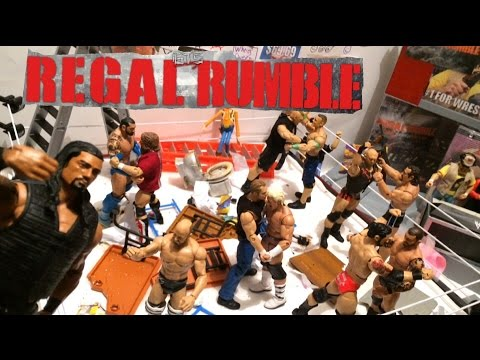 GTS WRESTLING: REGAL RUMBLE! WWE Figure Matches Animation PPV Event! M...