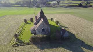 St Huberts Church Idsworth Finchdean Hampshire - MavicPro