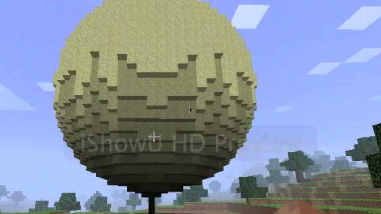 how to make a minecraft sphere