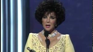 Elizabeth Taylor receiving the Jean Hersholt Humanitarian Award