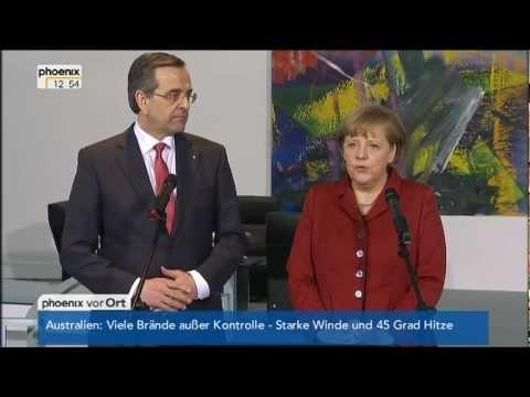 Pressestatementes Angela Merkel und Antonis Samaras - VOR ORT vom 08.01.2013