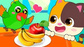 Little Parrot is Hungry | Learn Colors, Food Song | Kids Songs | Kids Cartoon | BabyBus