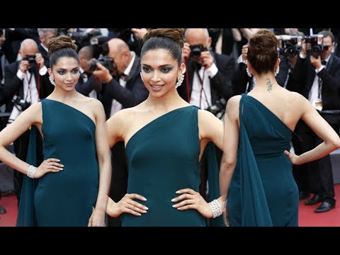 Deepika Padukone Hot In Green Gown At Cannes 2017 Day 2