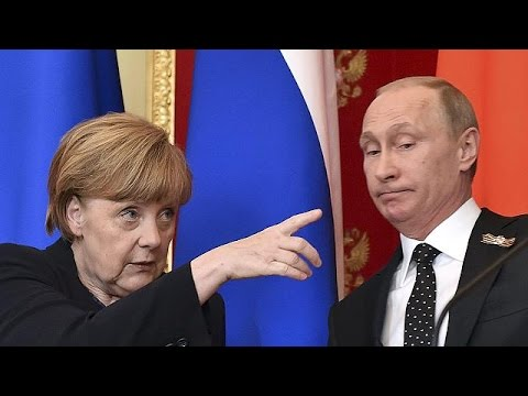 Angela Merkel rencontre Vladimir Poutine à Moscou