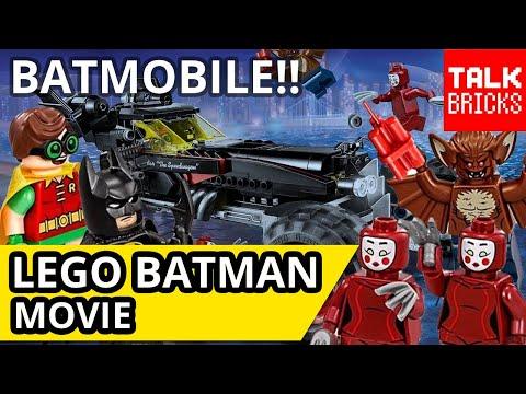LEGO Batman Movie The Batmobile Review! Robin! Man-Bat! Kabuki Twins! Set 70905