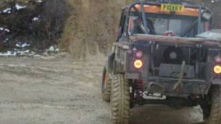 land rover defender 90 300tdi crazy hill climb @ yarwell, driving the undrivable, challenge truck