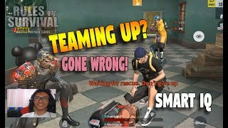 LvL999 SMART IQ TEAM UP GONE WRONG!! (Rules of Survival: Battle Royale) Ft.Worrybear