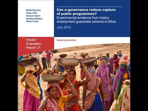 Can E-governance Reduce Capture of Public Programmes?- 3ie Delhi Seminar