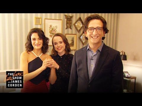 Ellen Page, Jenny Slate & Paul Rust Are One Happy Family