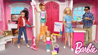 Barbie Dreamhouse Adventures Family Cleaning Routine - Titi Toys