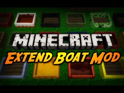 Minecraft Mod Review: EXTEND BOATS MOD! (Colors, Stunt, Speed, Icebreaker)