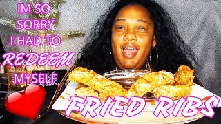 ✨SAVAGE EATING ✨FRIED RIBS✨ || SOCIAL EATING | EATING SHOW