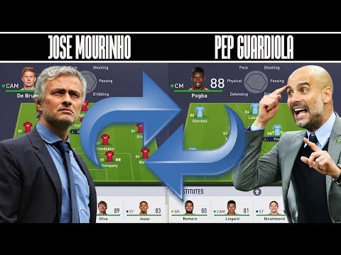 🤔 WHAT IF JOSE AND PEP SWITCHED TEAMS? - FIFA 18 EXPERIMENT!