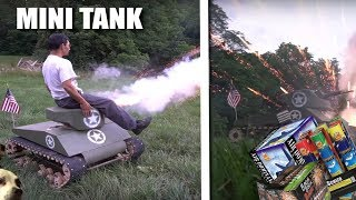 DIY GIANT Mini TANK! (with fireworks)