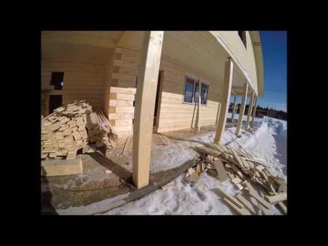 Отделка деревянного дома с учетом усадки