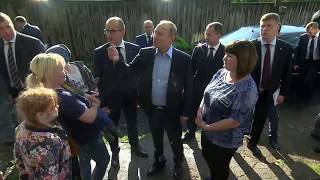 Putin KEEPS HIS PROMISE and visits Izhevsk family's home as promised during 'Direct Line'
