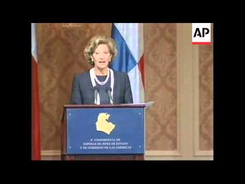 CHILE: SANTIAGO: FIRST LADIES OF THE AMERICAS CONFERENCE OPENS