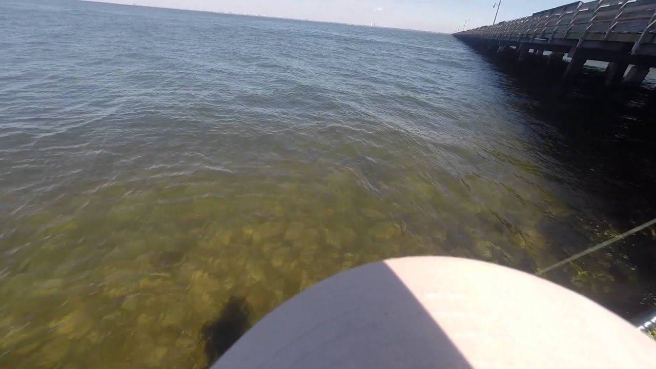 First trip out with my Gopro fishing the Gandy Bridge Tampa  Fl 02 14
