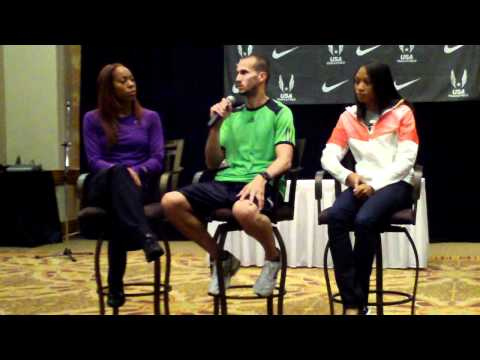 2011 USA Track &amp; Field Championships: Felix, Richards, Wariner Press Conference #2