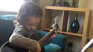 Camel Train. Classical guitar, grade 2