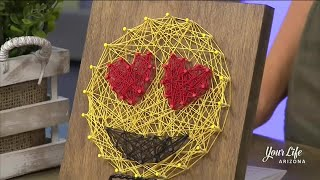 Emoji String Art with Stencil - a DIY Studio