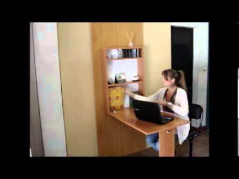 Escritorio colgante youtube - Mesas abatibles de pared ...