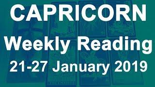 CAPRICORN WEEKLY TAROT READING - 21 TO 27 JAN 2019 - POWERFUL KARMA BRINGS ABUNDANCE