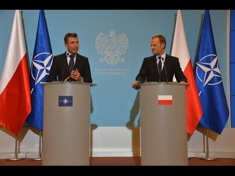 NATO Secretary General with Prime Minister of Poland - Joint Press Point