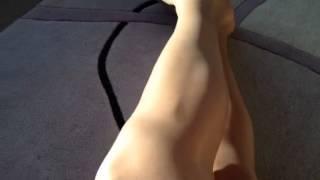 Nude pantyhose and pretty feet