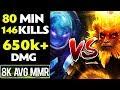 8k MMR AVG 80min Game - 146 Kills, 650k+ Total DMG - CLOSE Match Dota 2 MP3
