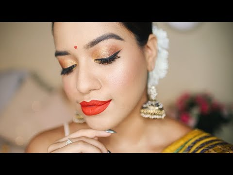 DURGA PUJA MAKEUP TUTORIAL 2018 ✨