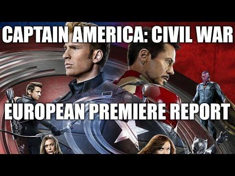 CAPTAIN AMERICA: CIVIL WAR - European Premiere Highlights