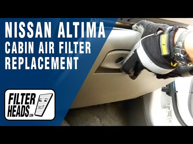 Cabin air filter replacement- Nissan Altima - YouTube