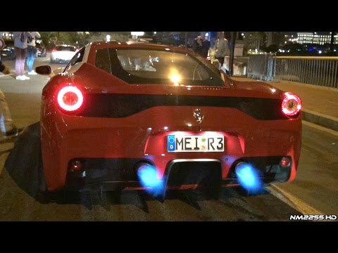 Ferrari 458 Speciale with Fi Exhaust Spitting Flames & HUGE Sounds!!