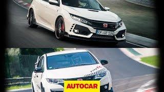 Honda Civic Type R Nurburgring lap record - new vs old   Autocar