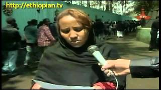 Ethiopian Woman Reads Poem dedicated to Meles Zenawi