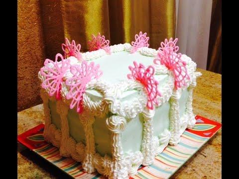 Ice Cream Sandwich Cake- Cake Decorating