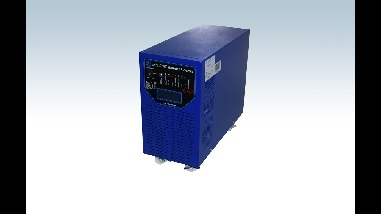 Aims 6000 Watt Low Frequency Solar Inverter Charger Youtube