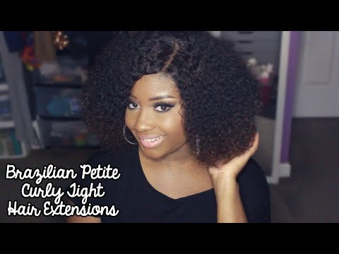Brazilian Tight Curly Hair Extensions Hair Extensions Brazilian