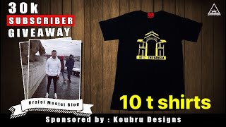 10 T-shirt's GIVEAWAY(sponsored by KOUBRU DESINGS)plz watch DESCRIPTION vlog-16