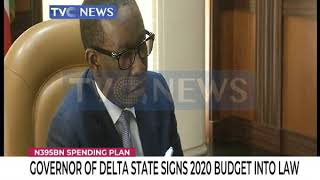 Governor Okowa signs 2020 budget into law