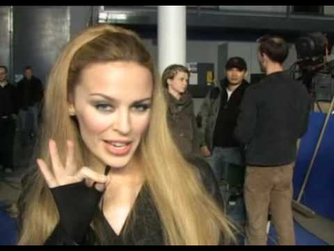 Kylie Minogue in the making of Giving You Up