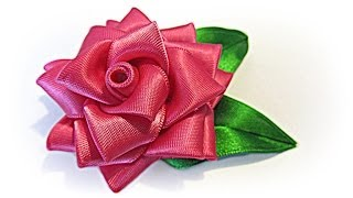 DIY: Rosa de cinta. Ribbon rose.